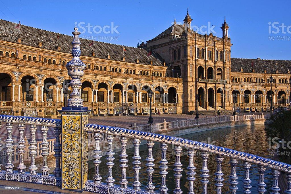 Bridge in Plaza de Espana, Seville royalty-free stock photo