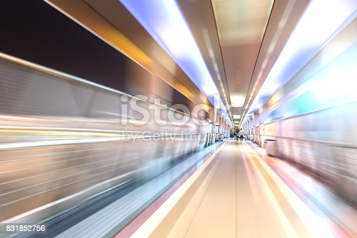 686251110 istock photo bridge in radial blur in night with lights on 831852756