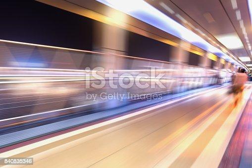 686251110 istock photo bridge in radial blur in night with lights on 840835346