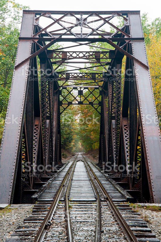 Bridge in rain stock photo
