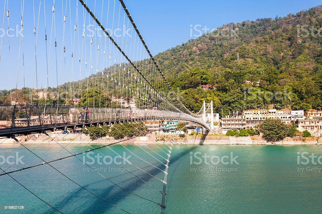 Bridge in Rishikesh stock photo