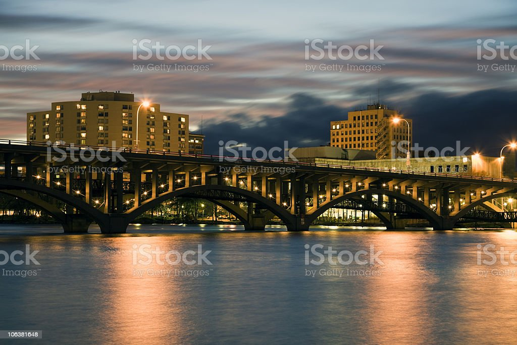 Bridge in Rockford stock photo