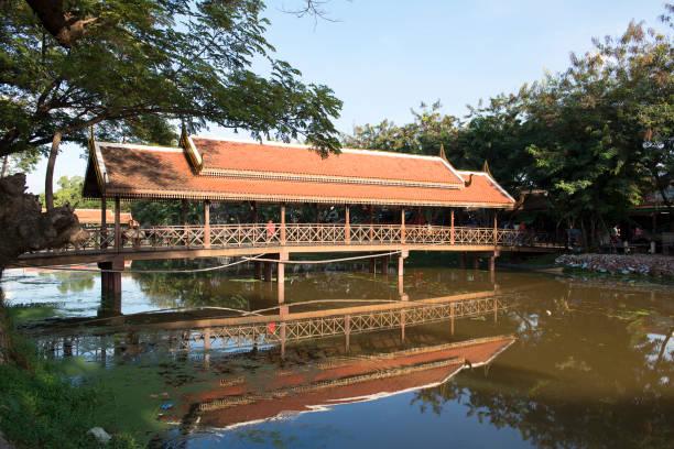 Bridge in Siem Reap stock photo