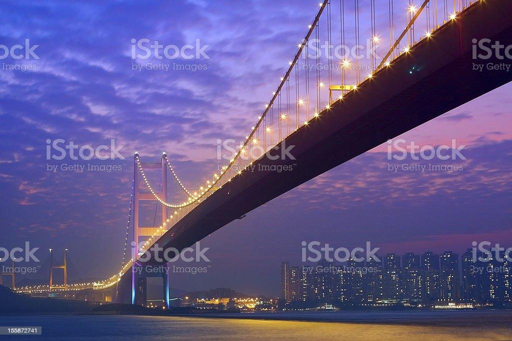 bridge in sunset stock photo