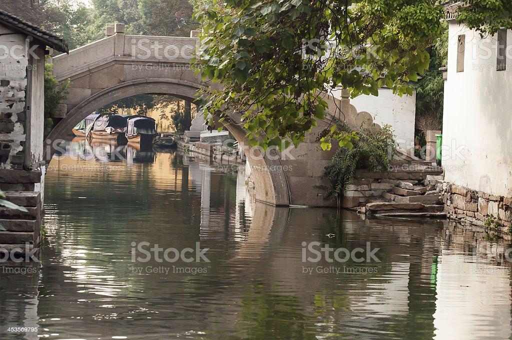 Bridge in Suzhou royalty-free stock photo