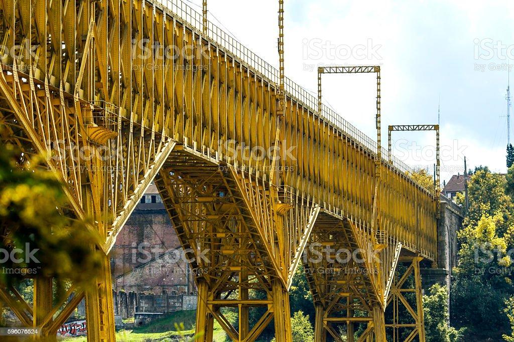 Bridge in the mountains royalty-free stock photo