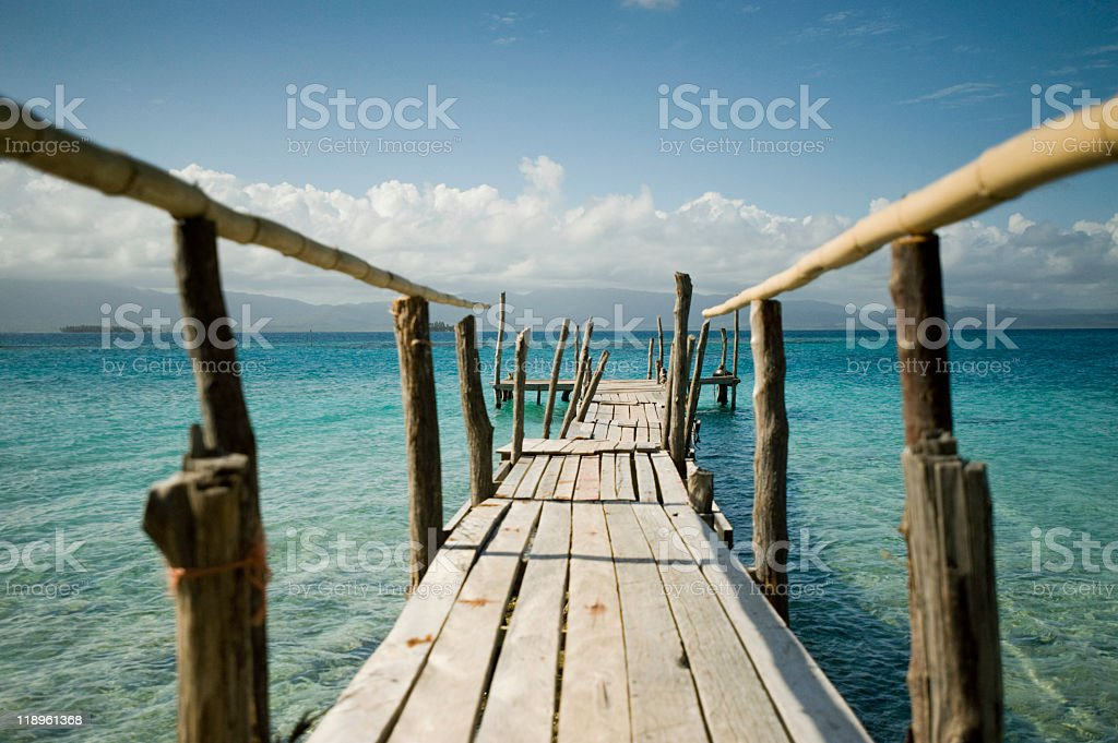 Bridge in the San Blas Islands royalty-free stock photo