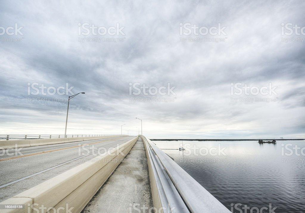 Bridge in Titusville Florida stock photo