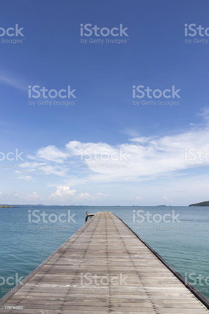bridge in to the sea royalty-free stock photo