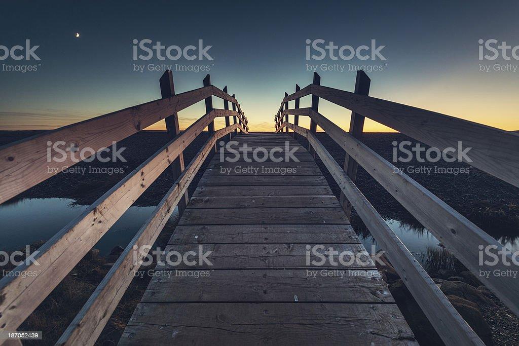 Bridge in Twilight royalty-free stock photo