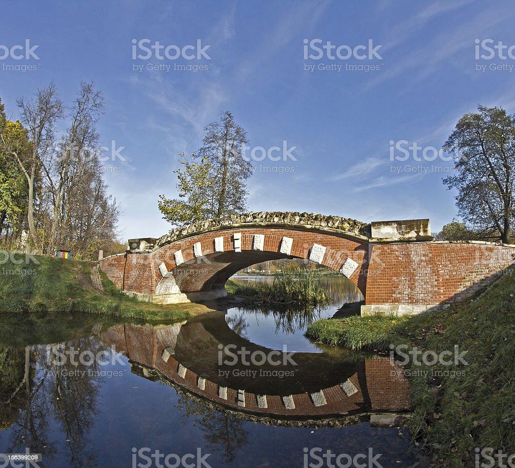 Bridge in Vlakhernskoe-Kuzminki royalty-free stock photo
