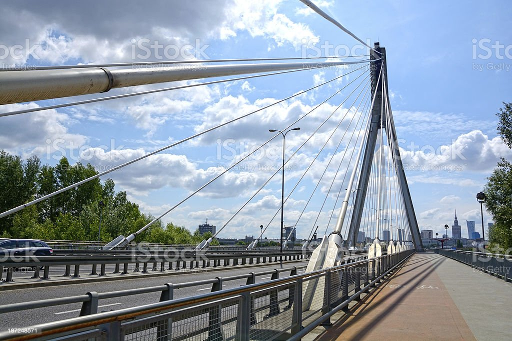 Bridge in Warsaw royalty-free stock photo