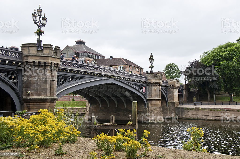 Bridge in York, United Kingdom royalty-free stock photo