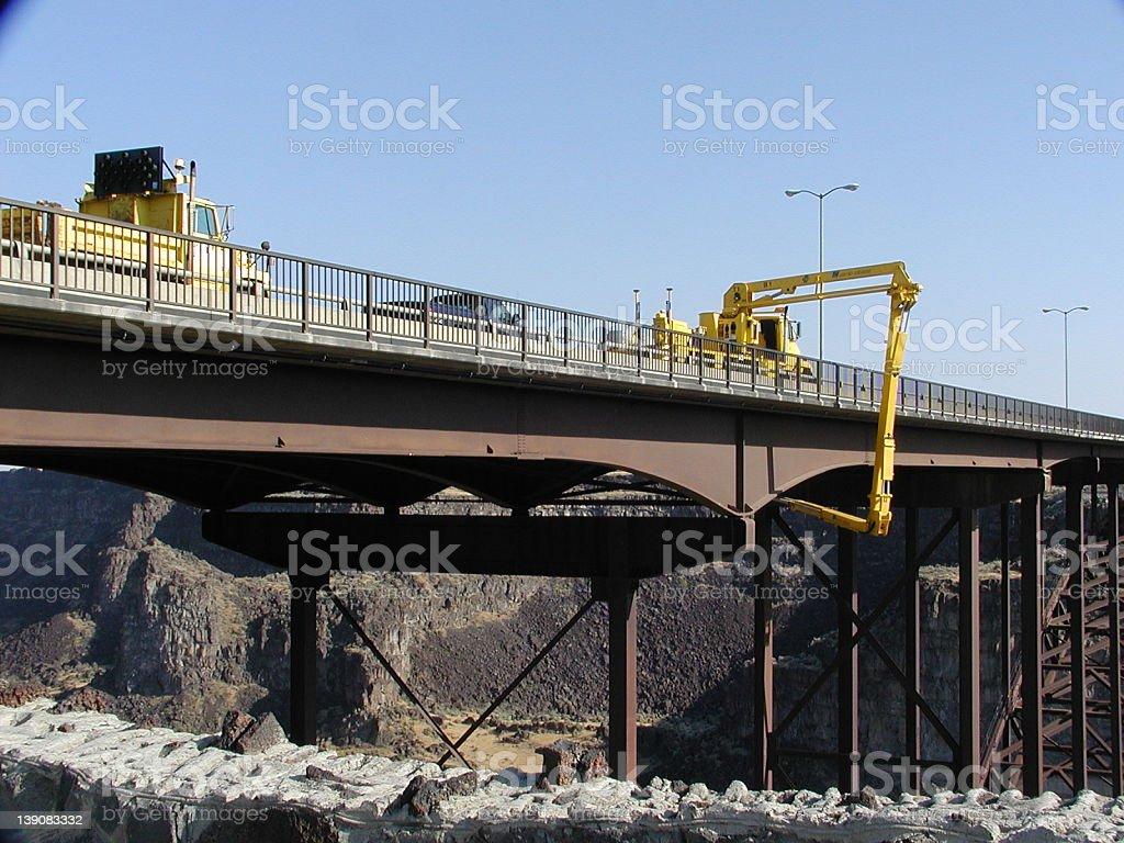 Bridge Inspection stock photo