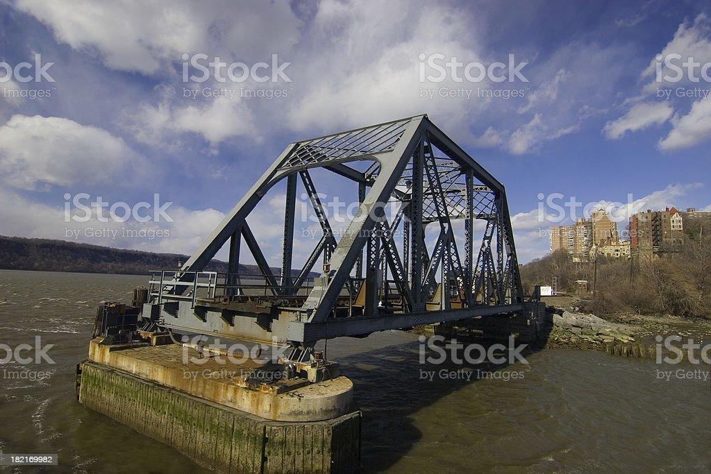 Bridge into the water New York City royalty-free stock photo