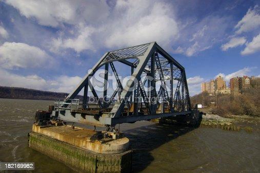 An open railway bridge in New York