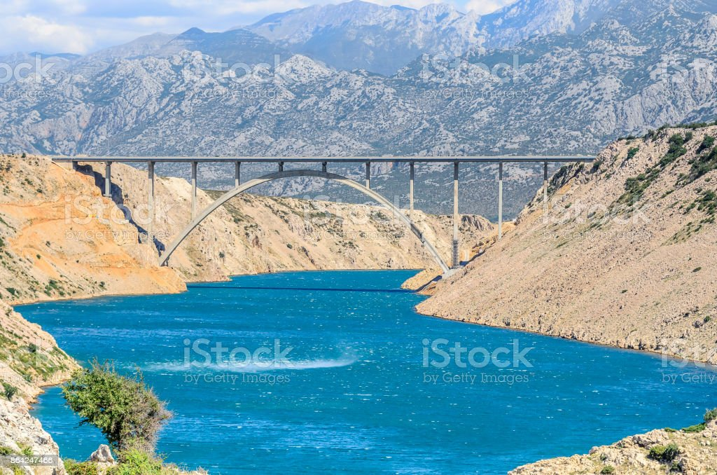 Bridge Maslenica on highway A1, Croatia. royalty-free stock photo
