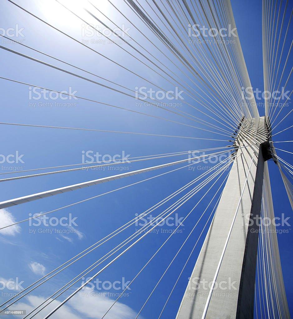 Bridge - modern construction stock photo