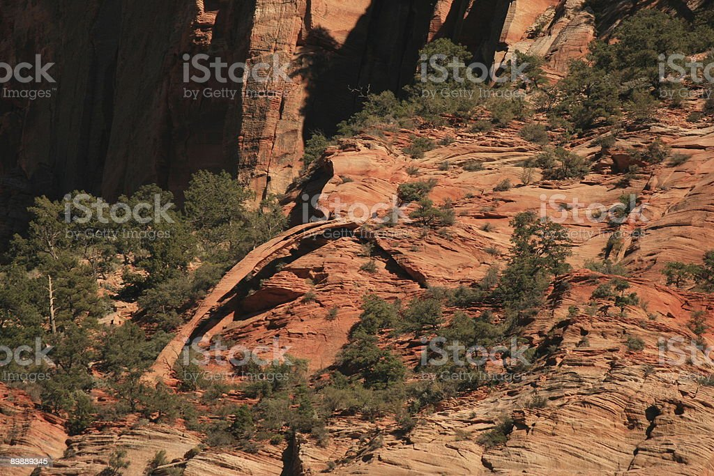 Bridge Mountain Arch in Zion NP royalty-free stock photo