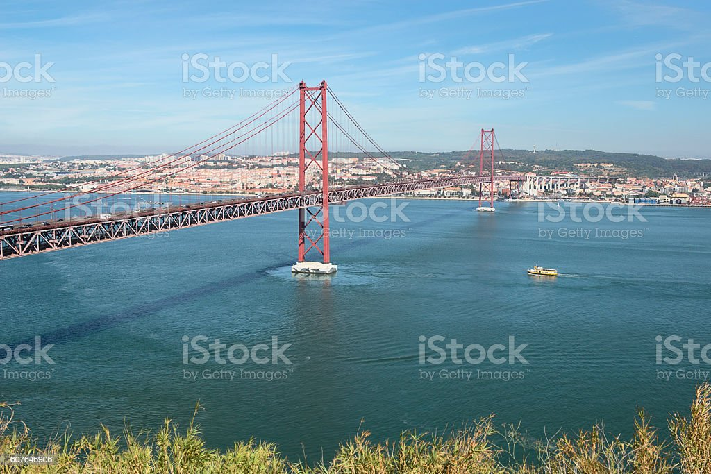 bridge name 25 April, Lisbon,Portugal stock photo