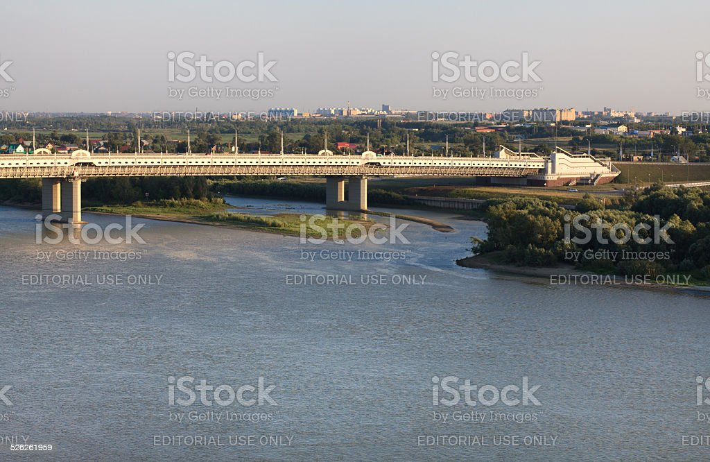 Bridge named after the sixtieth anniversary of victory stock photo