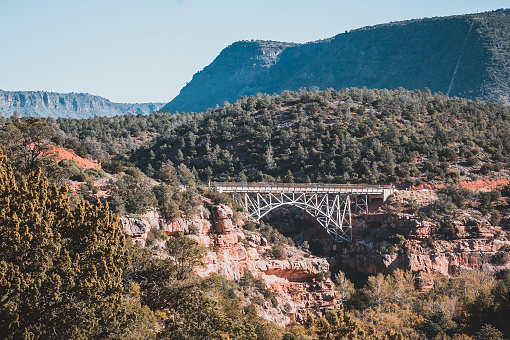 A landscape featuring a bridge taken near Sedona, Arizona.