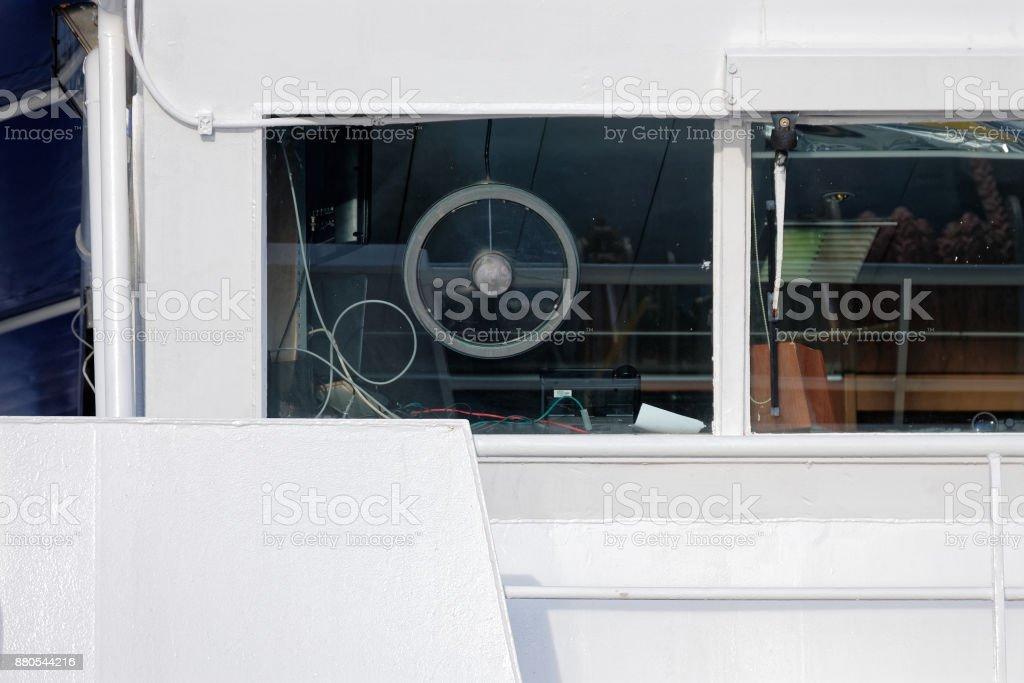 bridge of a modern vessel stock photo