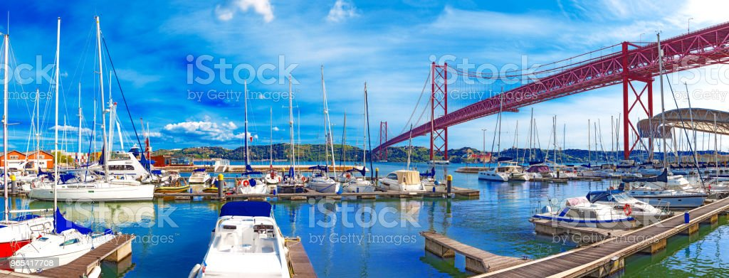 Bridge of April 25 in Lisbon. royalty-free stock photo