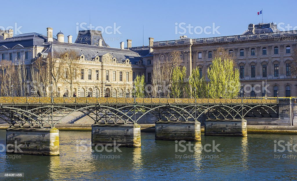 Pont des Arts Bridge stock photo