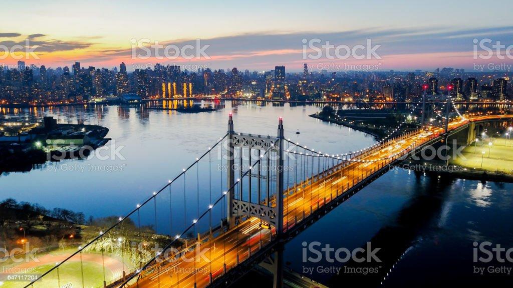 RFK Bridge of Astoria, Queens stock photo