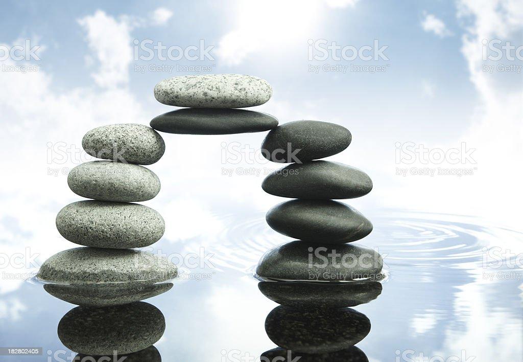 bridge of balance royalty-free stock photo