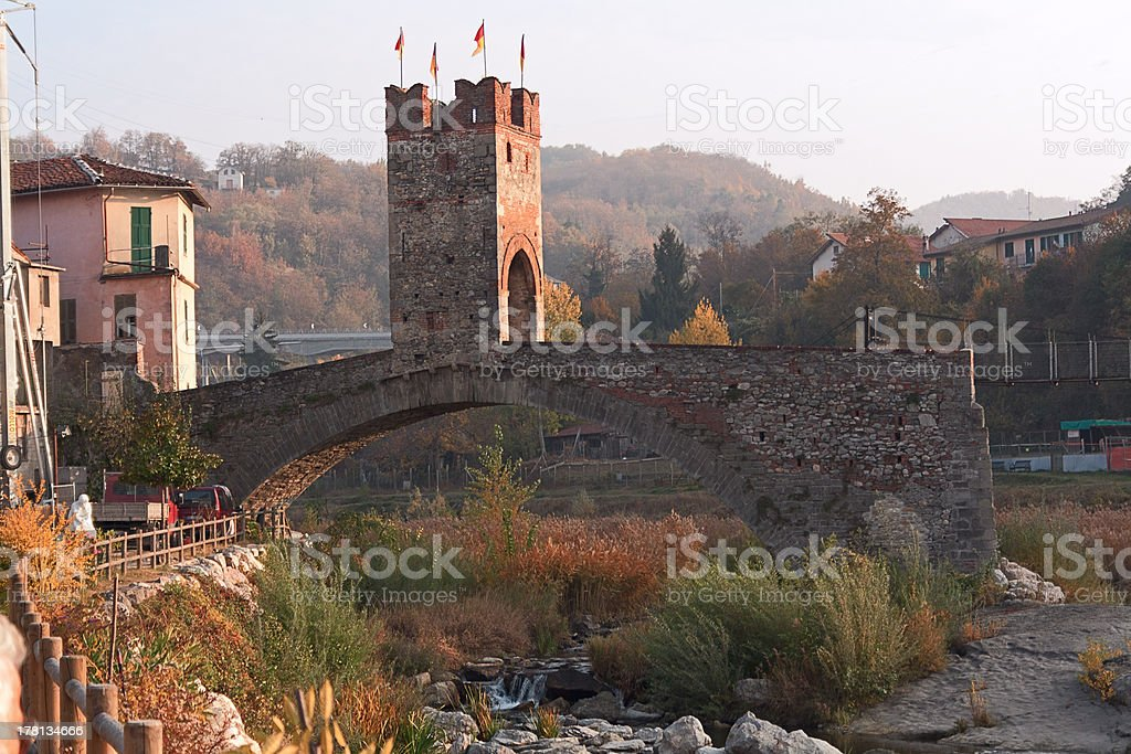 Bridge of Millesimo stock photo