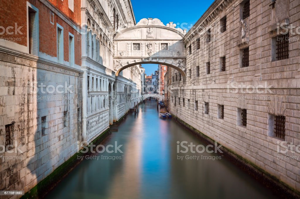 Bridge of Sighs and Doge's Palace in Venice, Italy royalty-free stock photo