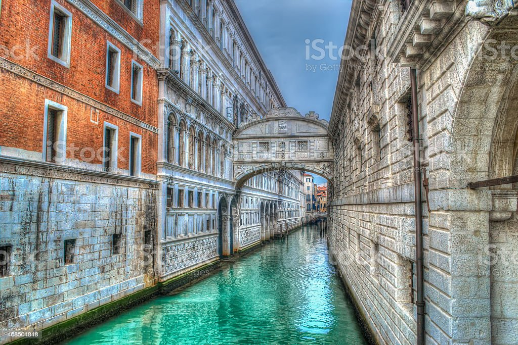 bridge of sighs in Venice in hdr stock photo