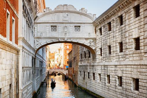 Bridge of Sighs (Ponte dei Sospiri) in Venice, Italy