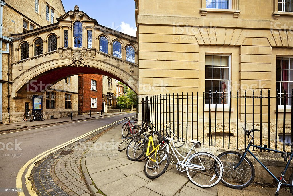 Bridge of Sighs, Oxford stock photo