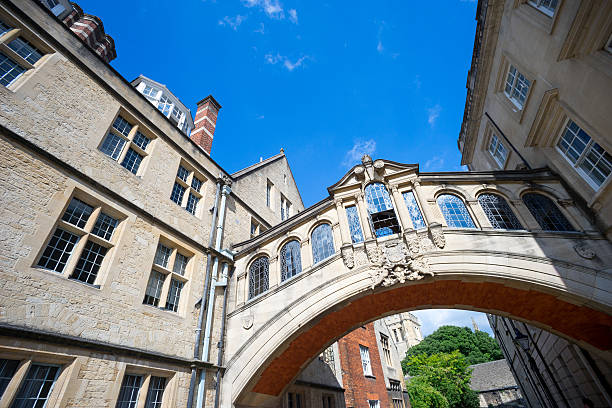 bridge of sighs, university of oxford, uk - cambridge university stock photos and pictures