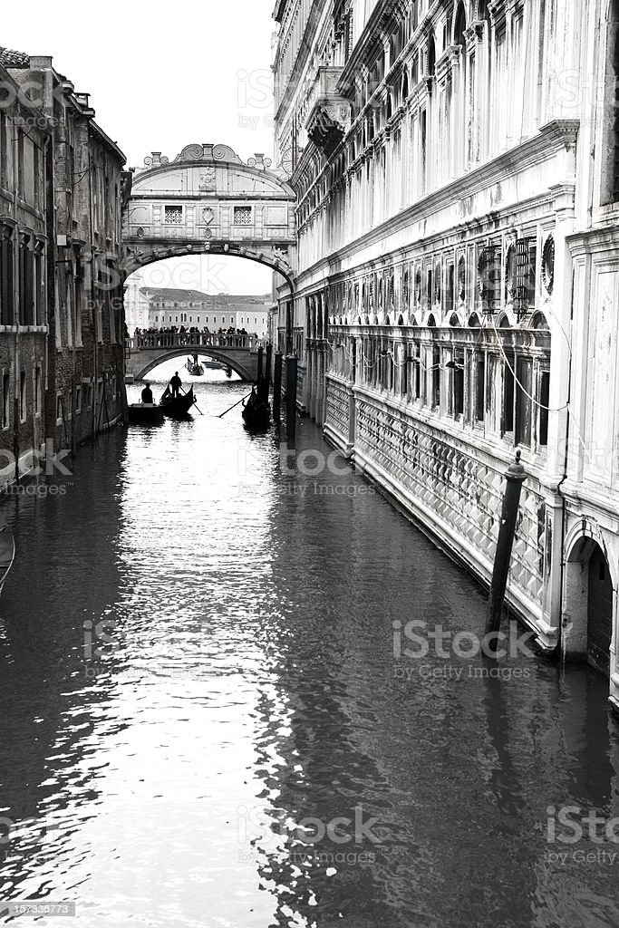 Bridge of Sighs Venice Italy stock photo