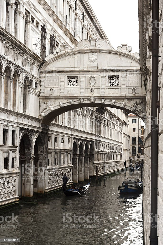 Bridge of Sighs, Venice, Italy stock photo