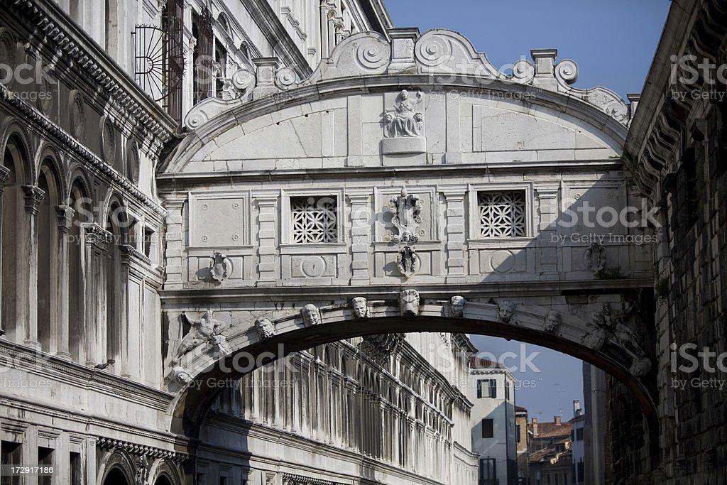 Bridge of Sighs Venice Italy royalty-free stock photo