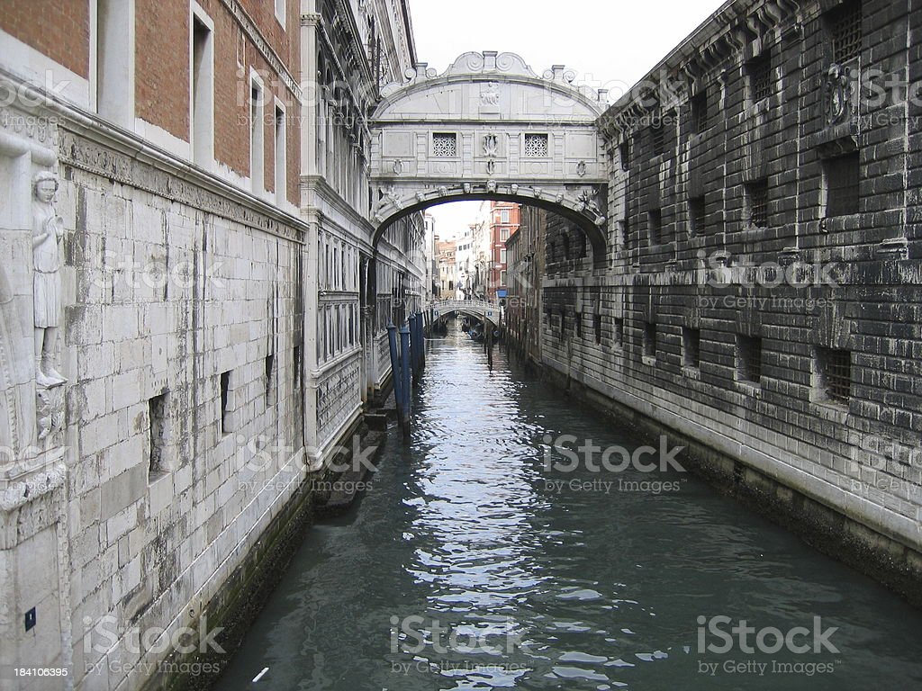 Bridge of Sighs - Venice, Italy stock photo