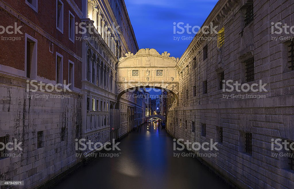 bridge of sighs (ponte dei sospiri). Venice. Italy. stock photo