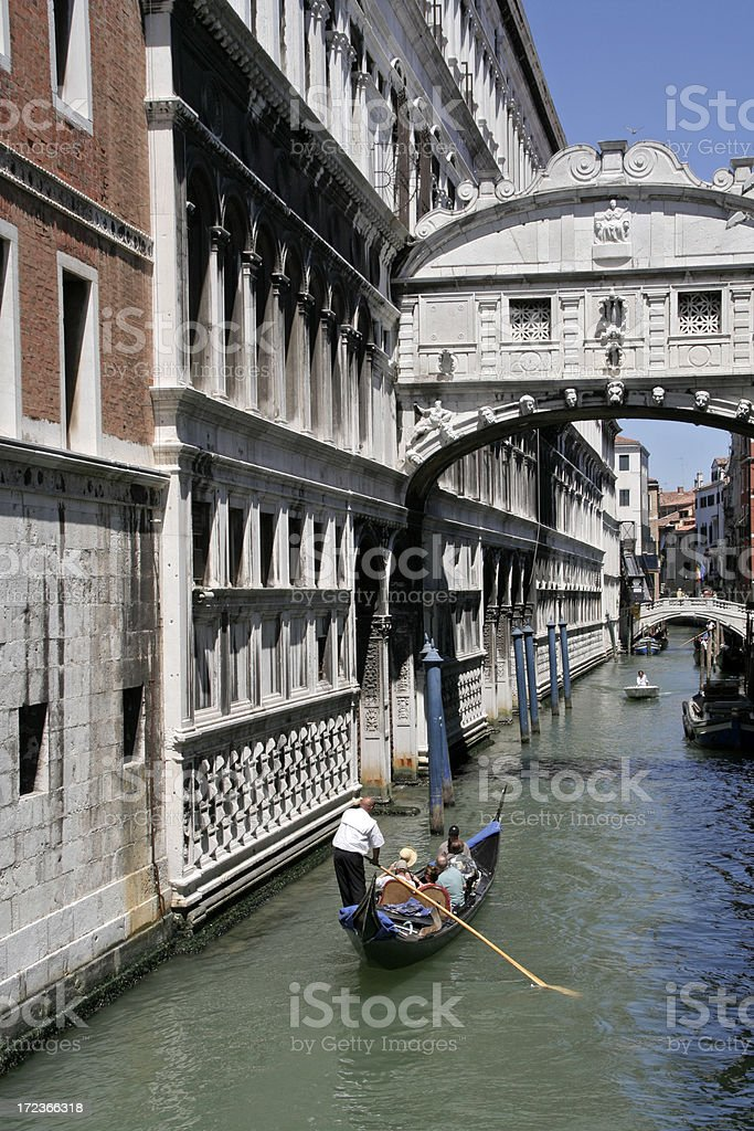 Bridge of Sighs Venice royalty-free stock photo