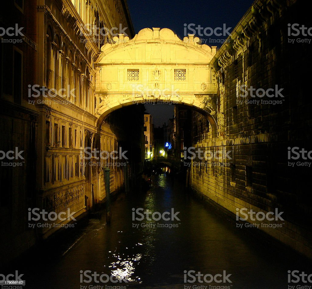 Bridge of Sighs, Venice royalty-free stock photo
