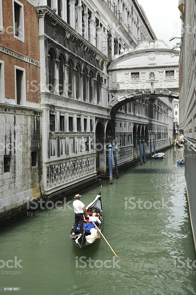 bridge of sighs - venice stock photo