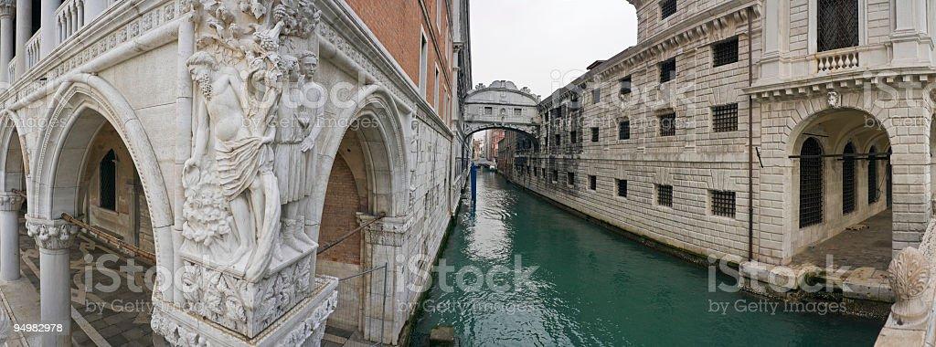 Bridge of Sighs Venice stock photo