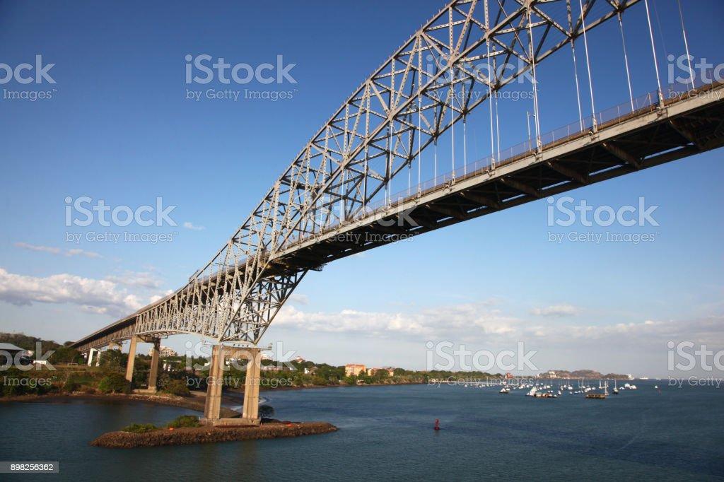 Bridge of the Americas, from below, Panama City, Panama, Central...
