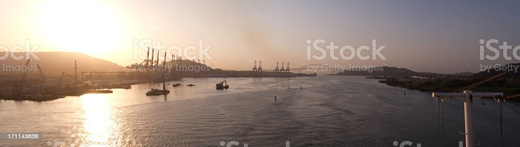 Bridge of the Americas Panama Pano royalty-free stock photo
