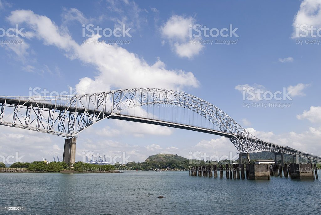 Bridge of the Americas royalty-free stock photo