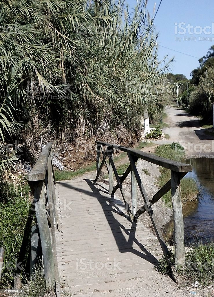 Bridge of the Stream of the Mills stok fotoğrafı